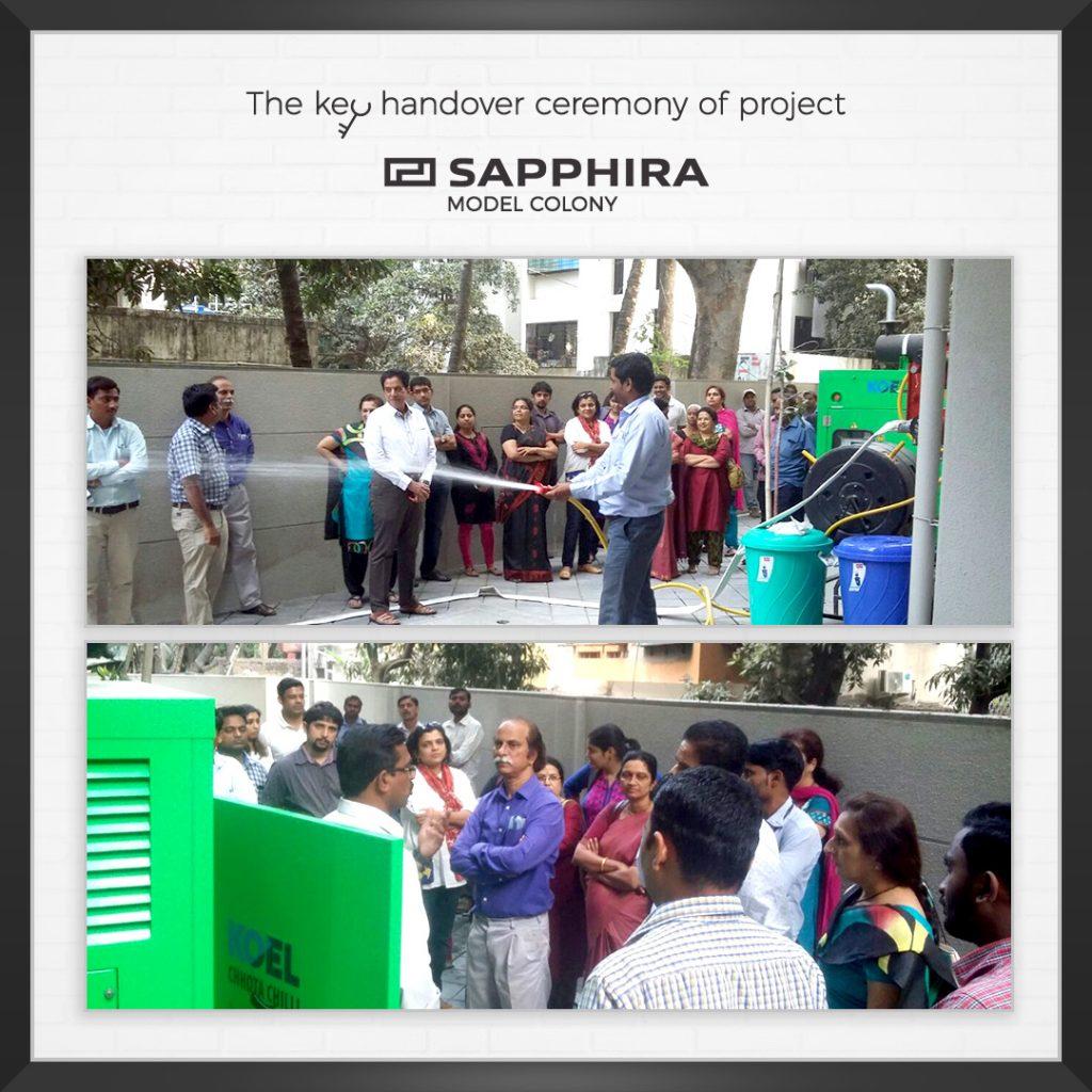 The key handover ceremony of project Sapphira, Model colony