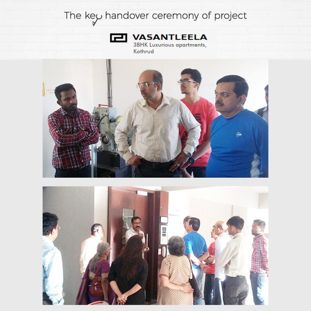 The key handover ceremony of PROJECT VASANTLEELA, Kothrud